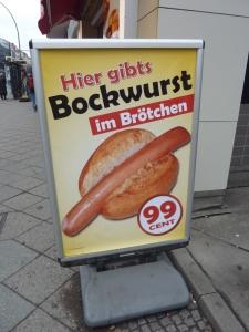 L'Allemagne, le pays de la saucisse ! (pas du tout bio pour le coup...)