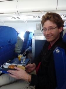 Petit-déjeuner dans l'avion