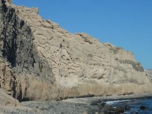 Même si elles ne sont pas rouges, les falaises sont jolies quand même...