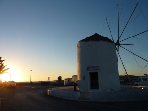 A Parikia, l'office du tourisme est... dans un moulin !