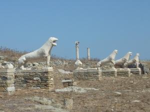 La terrasse des lions (les statues sont des copies, les originales sont au musée)