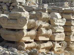 Chapiteaux de collines doriques abandonnés