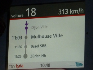 A toute vitesse vers Mulhouse !