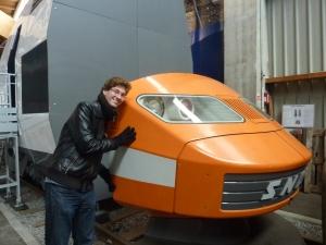 Le TGV orange qui fait rêver Benoît