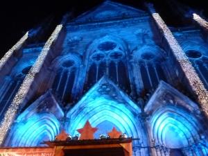 Le temple St Etienne tout illuminé