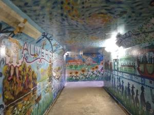 Le tunnel de fresques