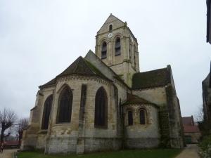 L'église d'Auvers en vrai...