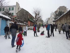 Ambiance hivernale à Montmartre