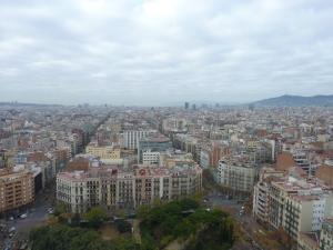 Vue sur Barcelone depuis la tour de la Passion