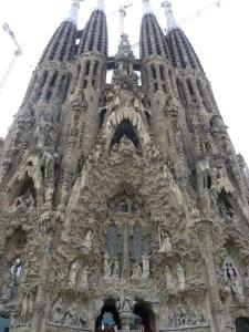 La façade de la Nativité, entièrement imaginée par Gaudi