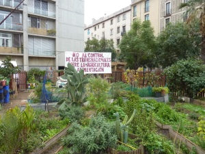 Jardin communautaire au cœur de la ville