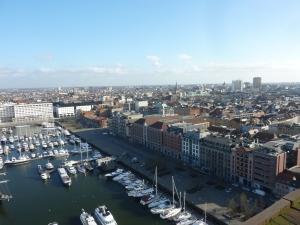 Bassin Napoléon et vieille ville vus depuis le toit du MAS