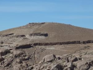 Les vestiges de la forteresse défensive