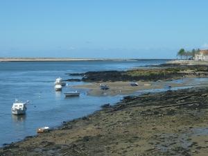Bateaux de pêche à l'approche de l'océan