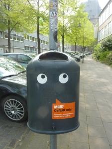 A Aachen, même les poubelles sont mignonnes:-)