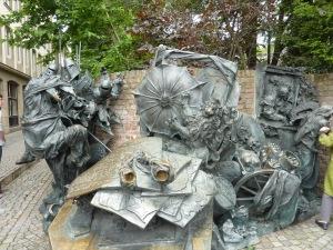 Monument commémorant le statut de « ville » acquis par Düsseldorf en 1288