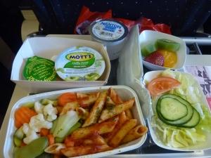 Ma nouvelle astuce voyage : commander des repas vegan. Comme ça, j'évite la viande ET la mayo ^^