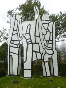 Elément d'architecture contorsionniste IV - Jean Dubuffet