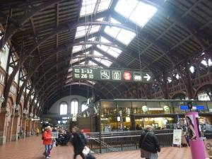 A l'intérieur de la gare, une architecture étonnante