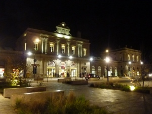 La gare by night !