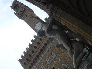 L'enlèvement des Sabines, devant le Palazzio Vecchio