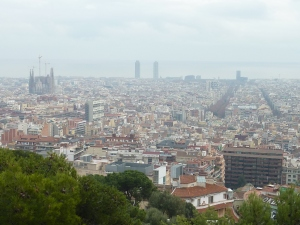 Vue sur Barcelone depuis le mirador