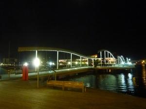 Rambla de Mar by night