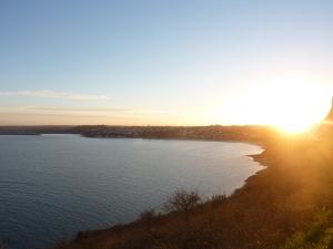 Coucher de soleil sur la baie de Saint Brieuc