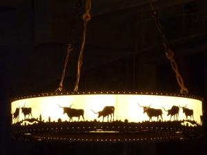 Même les lampes sont aux couleurs du Texas