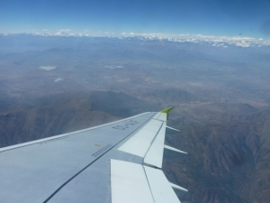Survol des Andes