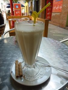 Leche con platano... ou banana milk-shake ;-)