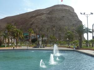 Vue sur le Morro depuis la place centrale