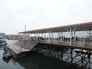 La jetée d'embarquement date de 1901