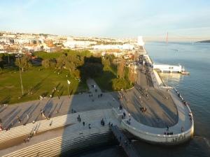 Promenade le long du Tage, vue depuis la tour
