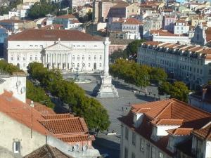 Vue aérienne de la place Don Pedro