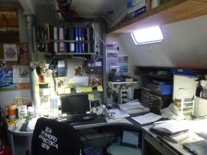 Le bureau du capitaine