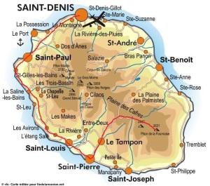 Notre itinéraire ! Crédit photo : www.iledelareunion.net