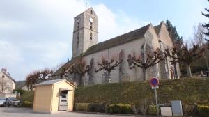 L'église de Buno-Bonnevaux et son four/distributeur de baguettes