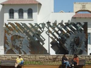 Pablo Neruda et Gabriela Mistral, les deux prix Nobel de littérature chiliens