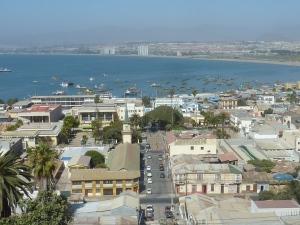 ... et de là-haut la vue est chouette sur la baie de La Serena !