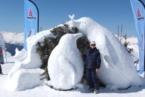 Sculptures sur glace à la grande Rochette