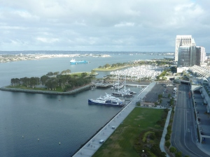 Vue sur la marina depuis notre chambre