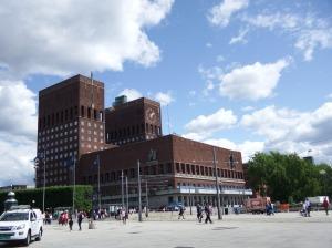 L'hôtel de ville, assez stalinien !