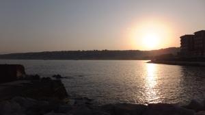 Coucher du soleil sur la pointe du Pausilippe