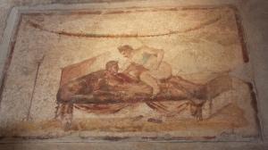 Peinture suggestive dans le Lupanar