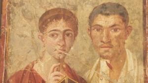 Peinture de Pompéi, vue pour la première fois dans mon livre de latin au collège ! C'est cool de la voir en vrai...