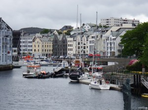 Alesund, le centre et le port touristique