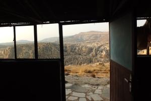 On aime bien la vue depuis notre tente !