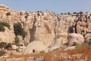 Exemple d'abri dans une grotte