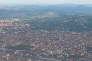 Survol de Bologne au retour